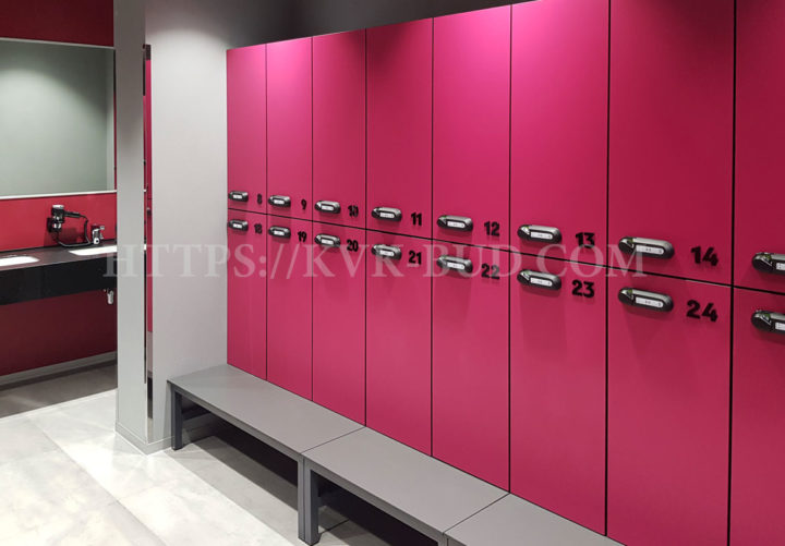 HPL lockers for changing rooms