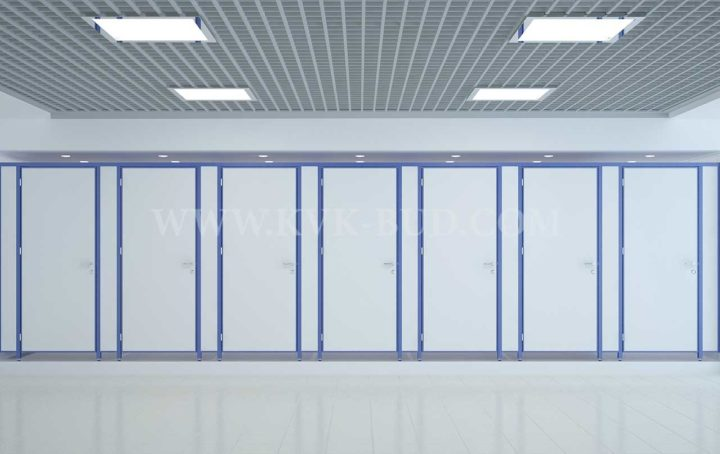 Restroom partitions for schools