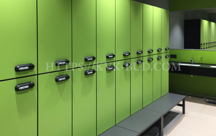 Particleboard lockers